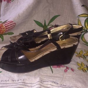 Coach wedge heels sandals